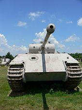 WWII-era German tank.  Photo from Wikipedia:  http://en.wikipedia.org/wiki/Panther_tank